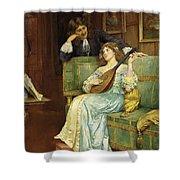 A Musical Interlude Shower Curtain