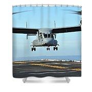 A Mv-22 Osprey Aircraft Prepares Shower Curtain