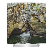 A Natatorium By The Cliff Shower Curtain