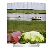 A Nauset Marsh View Shower Curtain