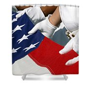 A Naval Station Pearl Harbor Ceremonial Shower Curtain
