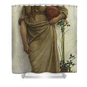 A Neapolitan Flower Seller, 1883  Shower Curtain