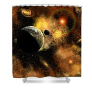 A Nebulous Star System In A Distant Shower Curtain