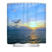 A New Dawn At Sea Shower Curtain