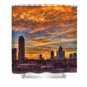 A New Day Atlantic Station Sunrise Shower Curtain