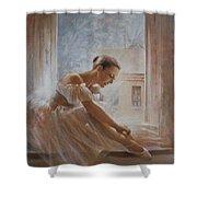 A New Day Ballerina Dance Shower Curtain