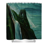 A New Light On The Norman Ruins Shower Curtain