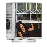 A New Orleans Greeting Shower Curtain