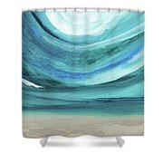 A New Start Wide- Art By Linda Woods Shower Curtain