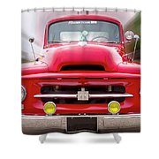 A Nice Red Truck  Shower Curtain