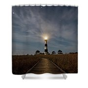 A Night At Bodie Island Lighthouse Shower Curtain