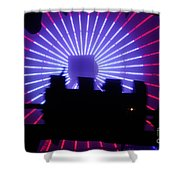 A Night At Santa Monica Pier Shower Curtain