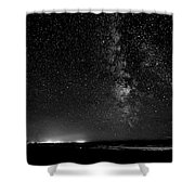 A Night At The Beach 11 Bw Shower Curtain
