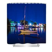 A Night At The Lake Shower Curtain