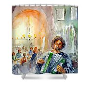 A Night At The Tavern Shower Curtain