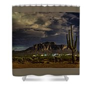 A Night In The Superstitions  Shower Curtain
