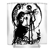 A Nightmare Before Christmas Shower Curtain
