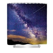 A Northern View Of The Milky Way Shower Curtain