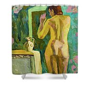 A Nude And Light Shower Curtain