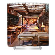 A One Room Schoolhouse Of Old Tucson, Tucson, Arizona Shower Curtain