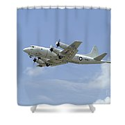 A P-3c Orion Aircraft Takes Shower Curtain