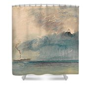 A Paddle-steamer In A Storm Shower Curtain