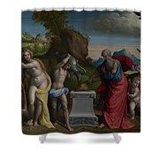 A Pagan Sacrifice Shower Curtain