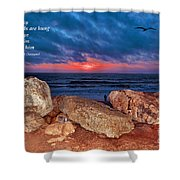 A Painted Sky For The Poet's Eye Shower Curtain
