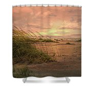 A Painted Sunrise Shower Curtain
