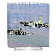 A Pair Of Bulgarian Air Force Sukhoi Shower Curtain