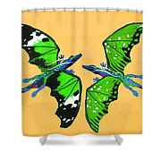 A Pair Of Dragons Shower Curtain