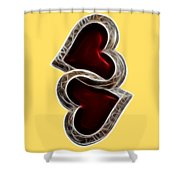 A Pair Of Hearts Shower Curtain
