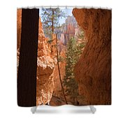 A Pair Of Hikers Go Shower Curtain
