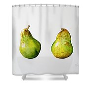 A Pair Of Pears Shower Curtain