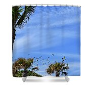 A Pandemonium Of Parrots 2 Shower Curtain