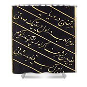 A Panel Of Calligraphy Shower Curtain