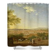 A Panoramic View Of Florence From Bellosguardo Shower Curtain