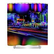 A Parallel Las Vegas Shower Curtain
