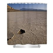 A Parched Lake Bed Below Notch Peak Shower Curtain