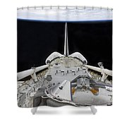 A Partial View Of Space Shuttle Shower Curtain by Stocktrek Images