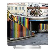 A Throughway Of Many Colors Shower Curtain by Lorraine Devon Wilke
