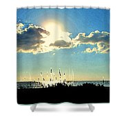 A Passing Cloud Shower Curtain
