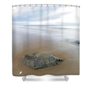 A Pastel Afternoon At Plum Island Shower Curtain