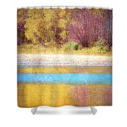 A Pastel Autumn Shower Curtain