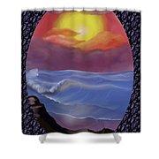 A Pastel Seascape  Shower Curtain