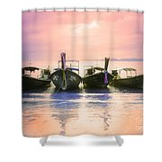 A Pastel Sunset Shower Curtain
