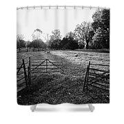 A Pasture Scene  Shower Curtain