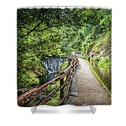 A Path Between Two Waters Shower Curtain