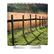 A Path Seldom Taken Shower Curtain