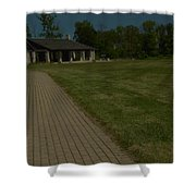 A Path To Shelter Shower Curtain by Cim Paddock